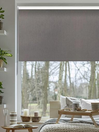 Windsor Dark Grey Blackout Thermal Roller Blind