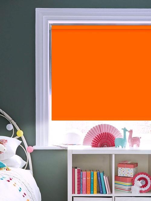 Action Orange Blackout Thermal Roller Blind