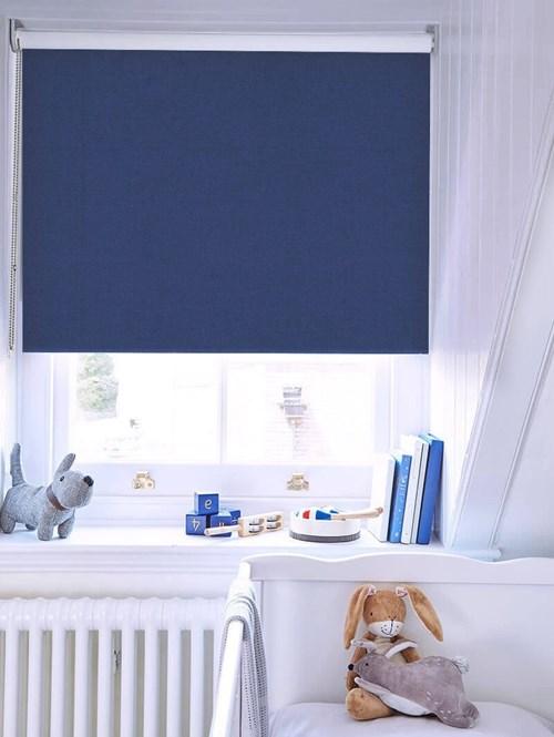 Royal Blue Blackout Thermal Roller Blind