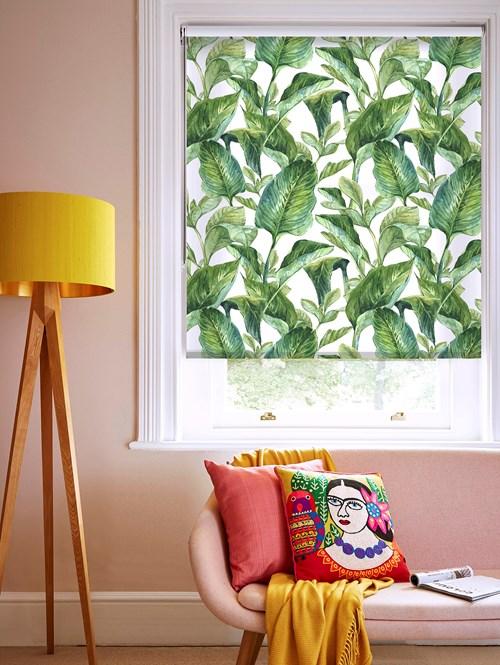 Jungle Leaves Day Floral Roller Blind
