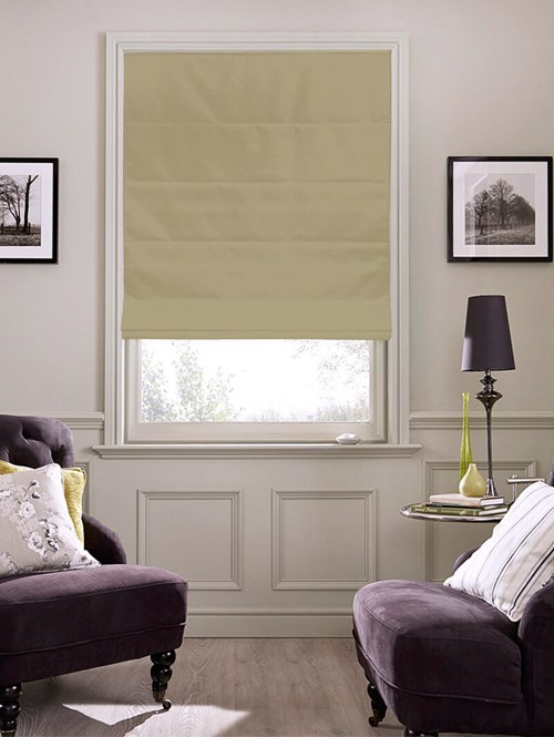 Buttered Toast Roman Blind