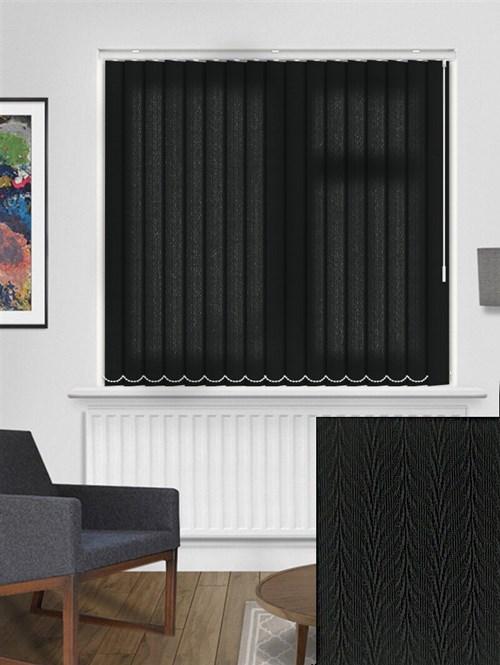 Foliage Black 89mm Dim-Out Vertical Blind