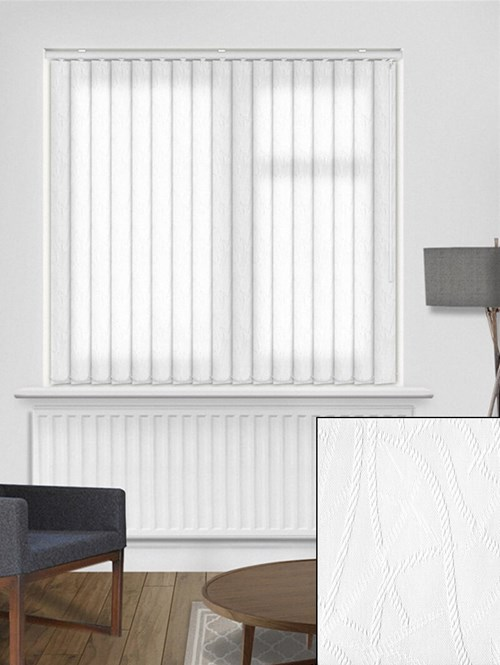 Rope White 89mm Dim-Out  Vertical Blind