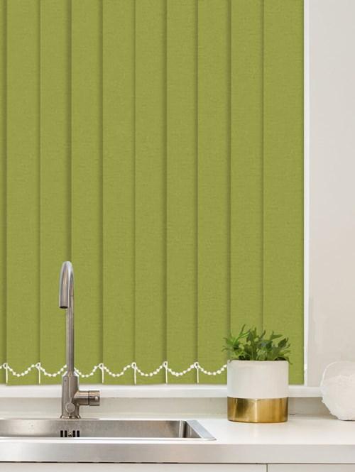Luxe Apple Green Waterproof 89mm Vertical Blind