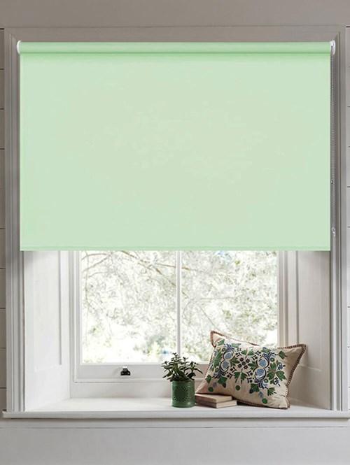 Mint Green Blackout Thermal Roller Blind