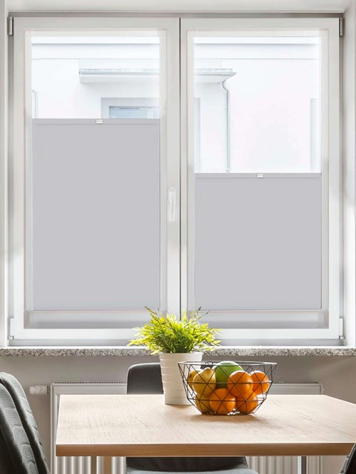 Perfect Fit Blackout Magnetic Grey Bottom Up Blind