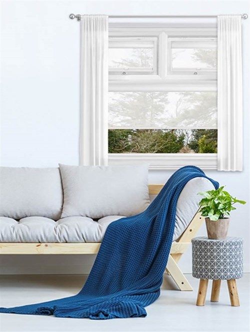 Sheer White Perfect Fit Roller Blind