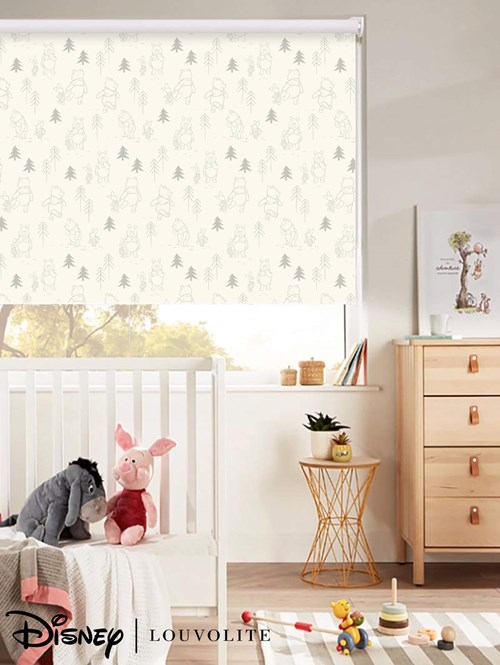 Disney Winnie The Pooh Blackout Cordless Spring Loaded Roller Blind