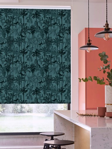 Amazon Teal Roller Blind by Boon & Blake