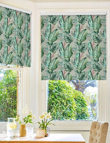 Botanica Moonlight Floral Roller Blind