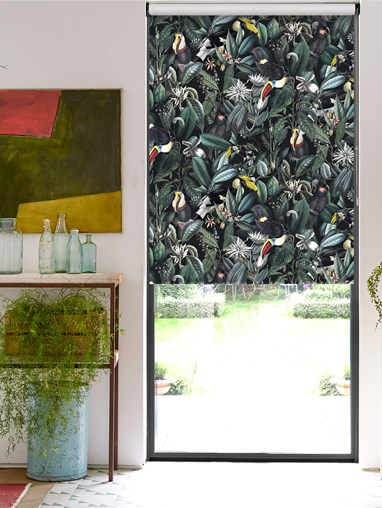 NeoTropical Onyx Jungle Roller Blind