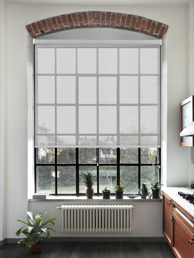 Nordic Grey 5% Sunscreen Cordless Spring Loaded Roller Blind