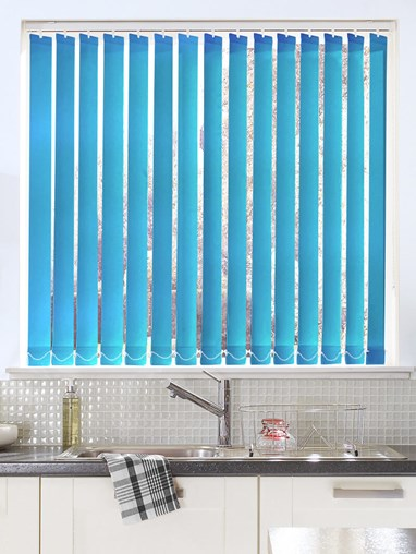 Mid Blue Daylight 89mm Vertical Blind Replacement Slats