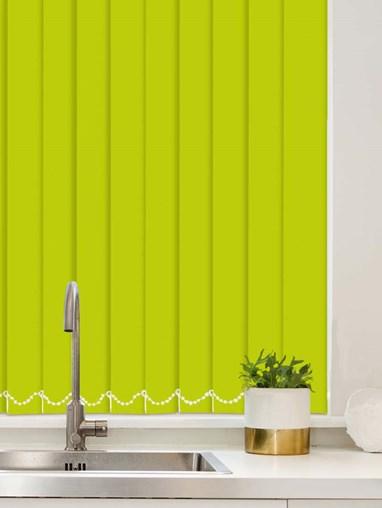 Apple Green Plain Waterproof 89mm Vertical Blind Replacement Slats